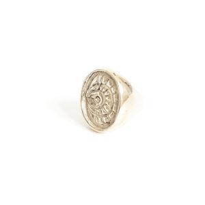 Bague Fidis, bronze. Néo-chevalière