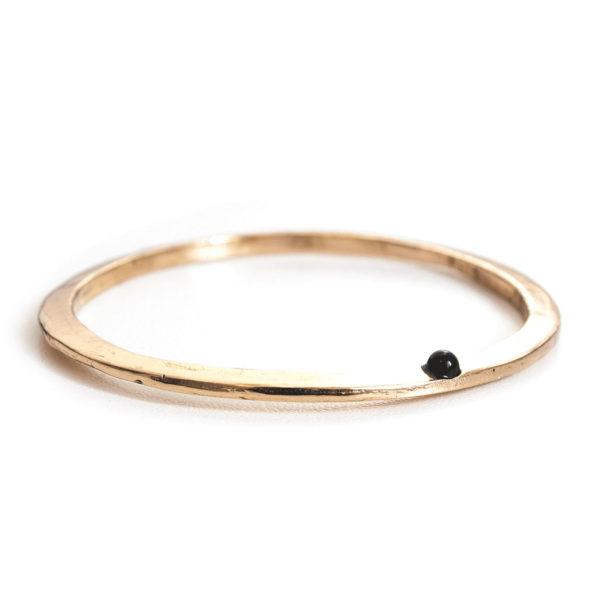 Bracelet Noctis Stone, bronze et pierre semi précieuse, Onyx