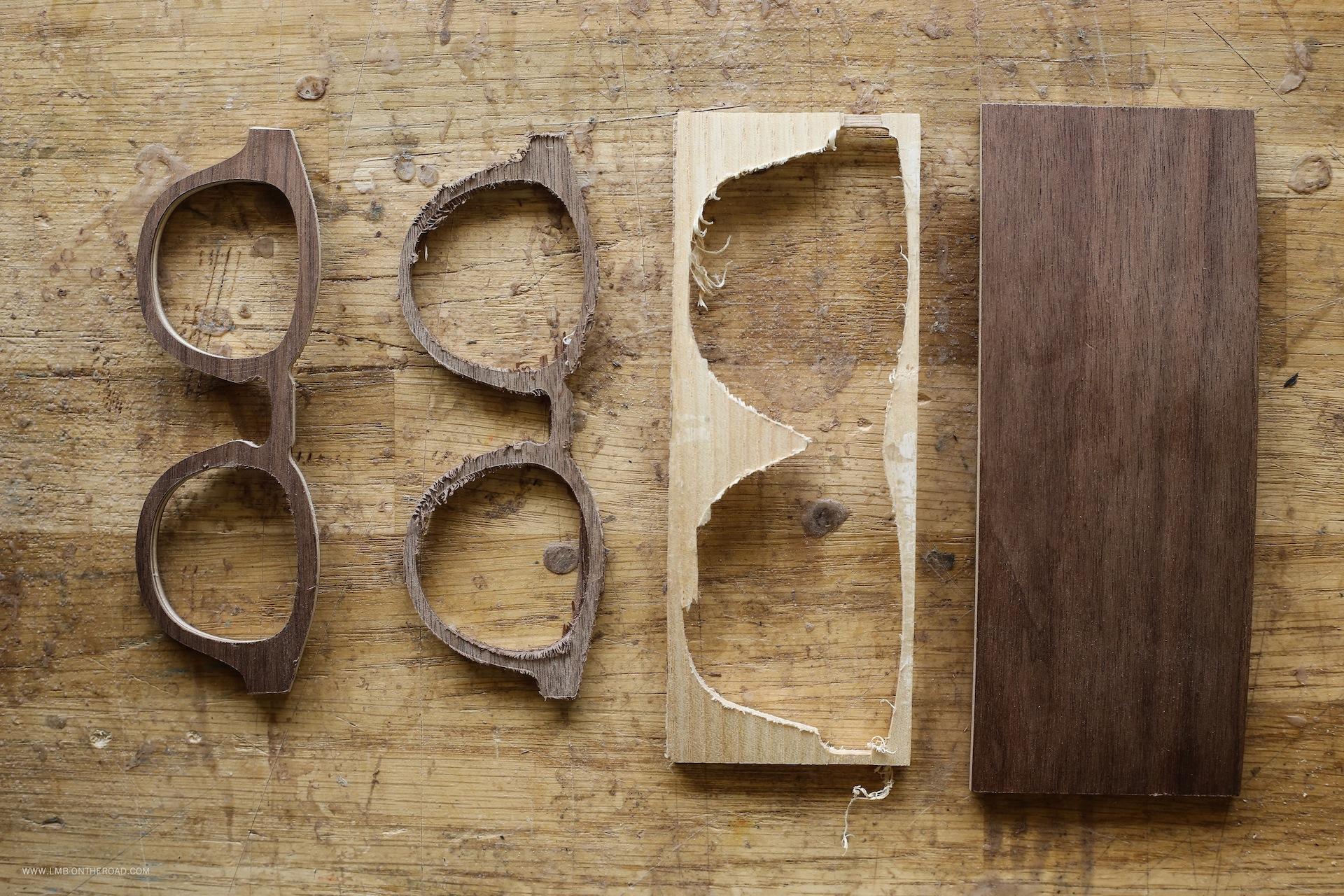 Shelter-L'usinage des faces et des branches dans les plaques de bois, par nos artisans lunetiers du Jura copie